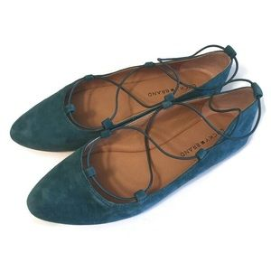 Lucky Brand Aviee Turquoise Suede Ballet Flat